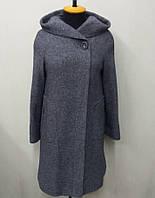 Пальто женское меланж Л-563А- серое