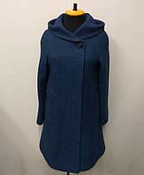 Пальто женское меланж Л-563А- синее