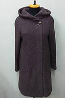 Пальто женское меланж Л-563А- коричневое