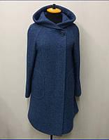 Пальто женское меланж Л-563А- индиго