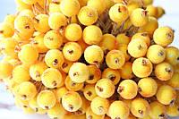 Сахарные ягодки 400 шт/уп.оптом ярко-желтого (кукуруза) цвета цвета (калина в сахаре)