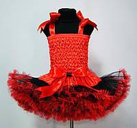 Черно красная юбка американка