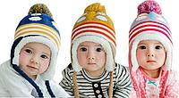 """Теплые детские зимние шапки """"Бомбон"""""""
