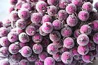 Сахарные ягодки 400 шт/уп.оптом цвета яркий пурпур (калина в сахаре)