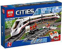 Конструктор Lepin 02010 Скоростной пассажирский поезд (аналог LEGO City60051)