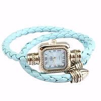 Модные, нежные женские наручные часы luxfacigoo на кожаном ремешке, фото 1
