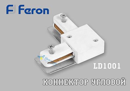 Коннектор угловой LD1001 Feron белый/чёрный, фото 2