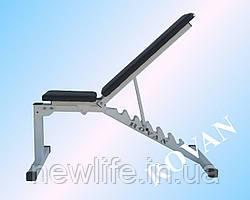 Лавка для жиму лежачи посилена біла Rovan