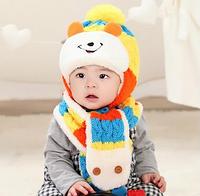 """Зимний комплект шапочка с шарфиком """"Медвежонок"""", фото 1"""