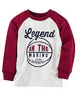 Реглан Carters на мальчика 4-8 лет Long-Sleeve Puff-Printed Legend In The Making Raglan