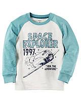 Реглан Carters на мальчика 4-8 лет Long-Sleeve Space Explorer Raglan