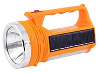 Фонарь переносной LUXURY 2882 T, 1W+7SMD, солн. батарея LO