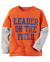 Реглан Carters на мальчика 4-8 лет Layered-Look Leader On The Field