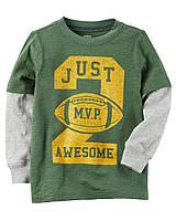 Реглан Carters на мальчика 4-8 лет Layered-Look MVP