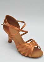 Туфли для танцев  женские Латина сатин оригинальная модель
