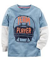 Реглан Carters на мальчика 4-8 лет Team Player Double-Decker