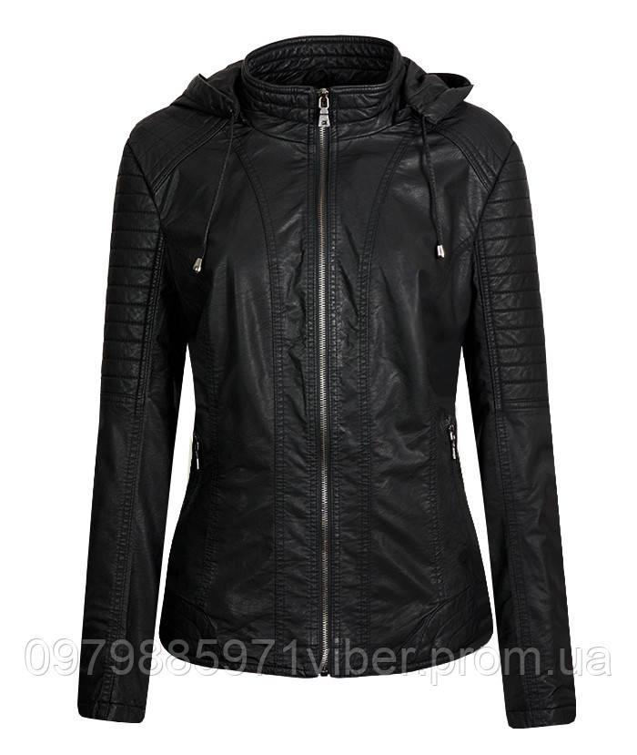 cfcec2f1f8e1 Кожаная женская куртка больших размеров - Доставка товаров из Польши в  Львове