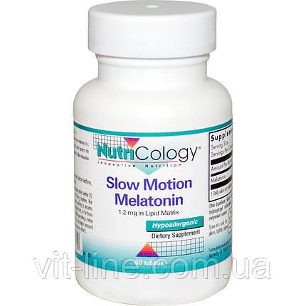 Nutricology, Мелатонин замедленного высвобождения, 60 таблеток, фото 2