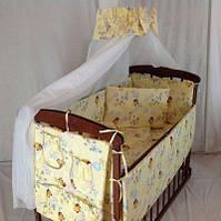 Набор детского постельного белья в кроватку (8 предметов) с балдахином