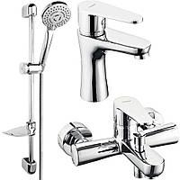 Algeo Набор смесителей для ванны, хром