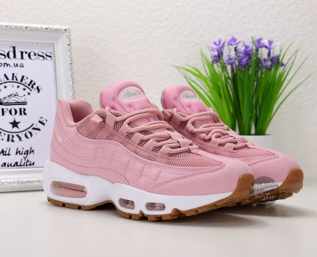 d8c92005 Женские кроссовки Nike Air Max 95 Premium Pink Oxford/Bright Melon | Аир  Макс 95