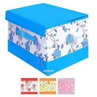 Ящик для хранения вещей Бантик 38*25*25 см (12401) ПВХ