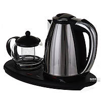 Электрочайник 1,8л + чайник заварник 500мл. на подставке (ОС-1342)