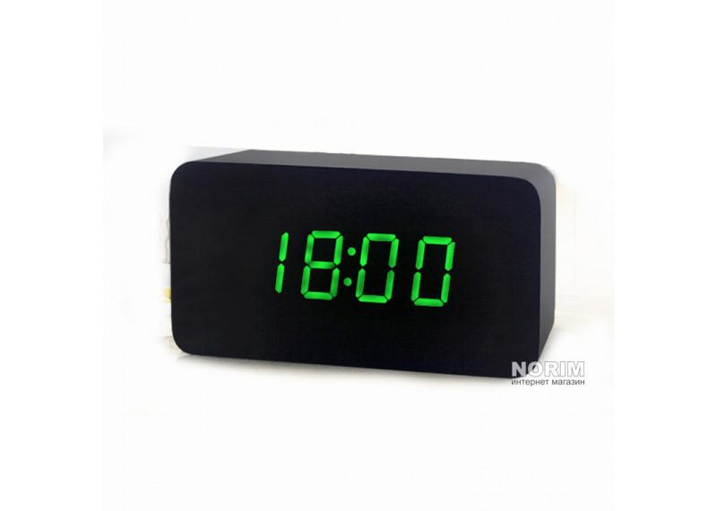 027dfd70 Настольные часы Led Woden Clock (VST-863-1) Черные с зеленой подсветкой,  цена 189 грн., купить в Николаеве — Prom.ua (ID#582809549)