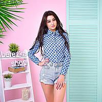 Модная женская джинсовая рубашка