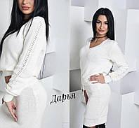 Шикарный белый костюм осень-весна , фото 1