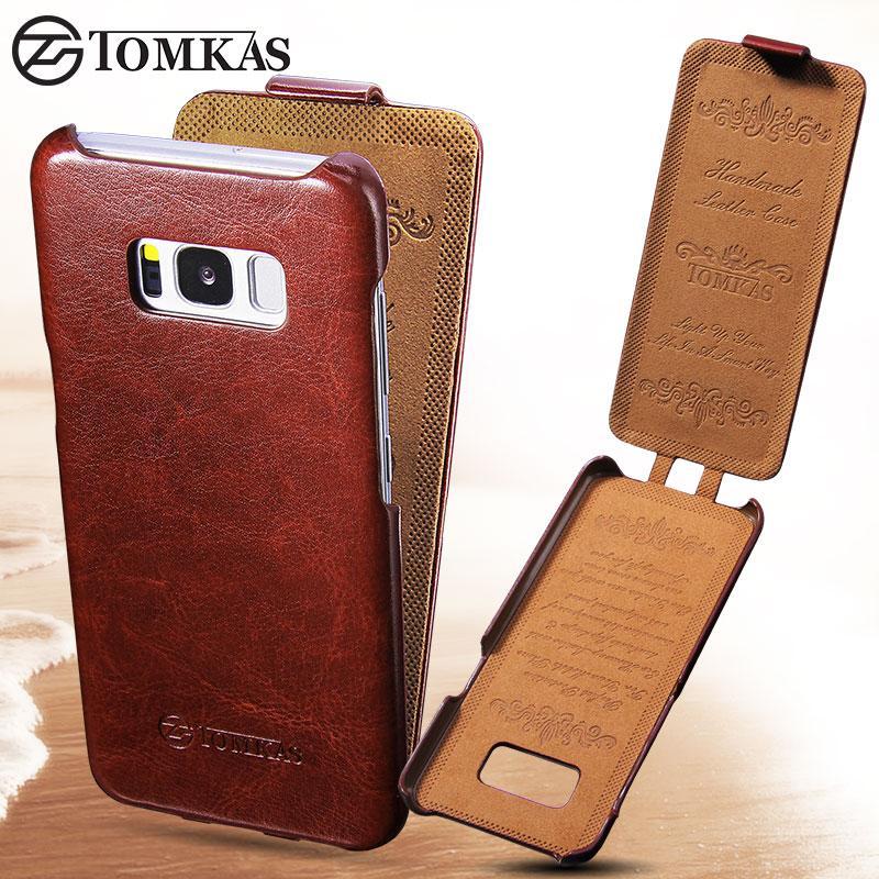 Кожаный чехол флип Tomkas для Samsung S8 G950