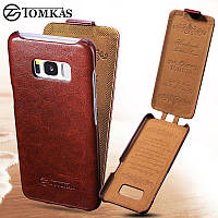 Кожаный чехол флип Tomkas для Samsung S8 G950, фото 1