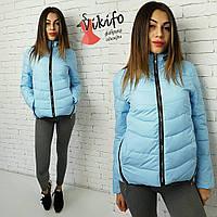 Голубая молодежная курточка на силиконе