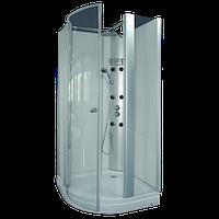 Душевая кабина гидромассажная CRW FTM-62R 100*100 см, правая однодверная распашная, прозрачное стекло