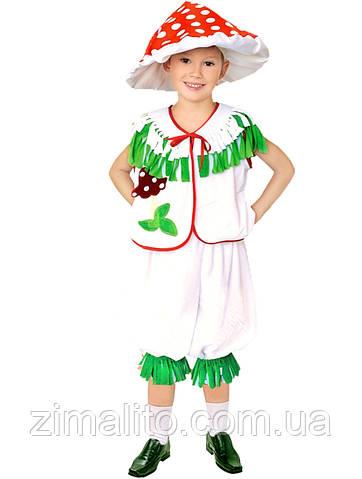 Гриб Мухомор карнавальный костюм детский
