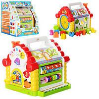 Музыкальный Теремок сортер Joy Toy 9196 развивающая игрушка с пианино и ключиком
