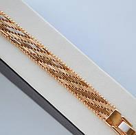 Красивый браслет Xuping покрытие золотом 18к. длина 20 см.