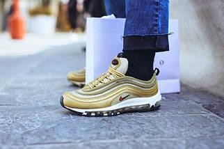 """Мужские и женские кроссовки в стиле Nike Air Max 97 OG """"Metallic Gold"""" Рефлективные, фото 2"""