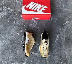 """Мужские и женские кроссовки в стиле Nike Air Max 97 OG """"Metallic Gold"""" Рефлективные, фото 3"""
