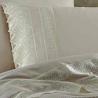 Комплект постельного белья Gelin Home Erguvan Triko Set Cream евро 220х240