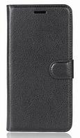 Кожаный чехол-книжка для Doogee Mix черный
