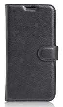 Кожаный чехол-книжка для Doogee X9/X9 Pro черный