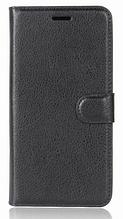 Кожаный чехол-книжка для HomTom HT30 черный