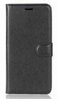 Кожаный чехол-книжка для HomTom HT37 черный