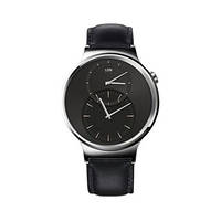Умные часы HUAWEI Watch (Stainless Steel with Black Leather Strap)