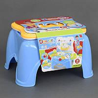 Набор доктора 660-42 А (24) стул-чемодан, свет, 18 деталей, на батарейке, в коробке(и7)