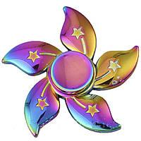 Спиннер металлический Fidget spinner Цветок Градиент игрушка антистресс