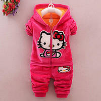 Детский спортивный костюм для девочки теплый Hello Kitty на2 — 3года