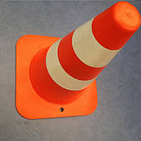 Столбик сигнальный две полосы