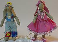 Детская Интерьерная Кукла Тильда Зайка мальчик, девочка, фото 1
